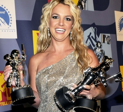 Britney won three awards on MTV Video Music Awards in Hollywood.