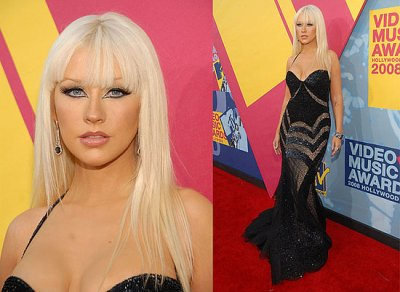 Pretty and sexy Christina Aguilera attended the Video Music Awards.
