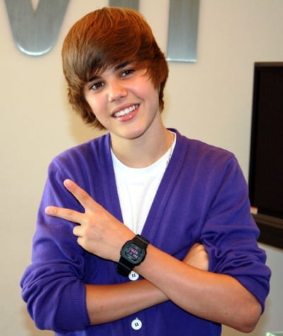 The popular young Canadian singer of pop-R&B named Justin Bieber.