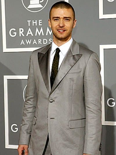 Justin Timberlake attends the Annual Grammy Awards.