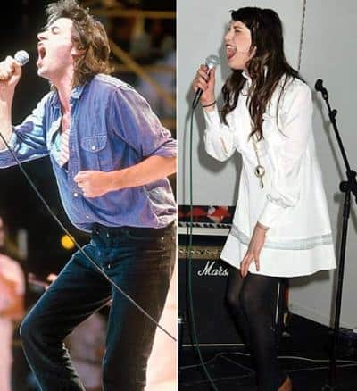 Bob Geldof and his daughther Peaches are singing with same singing style.