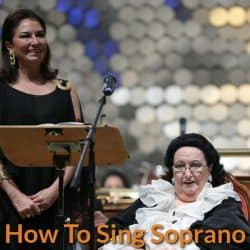 Soprano perform in the opera house.