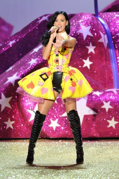 Katy Perry performs during the 2010 Victoria's Secret Fashion Show in New York.