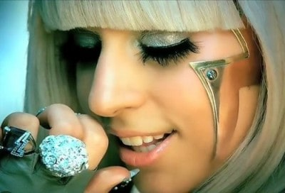 The popular American pop singer and songwriter Lady Gaga image.