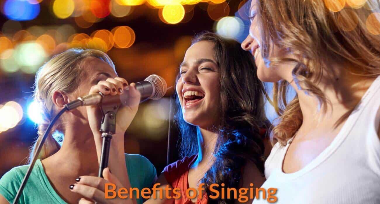Enjoying singing together.