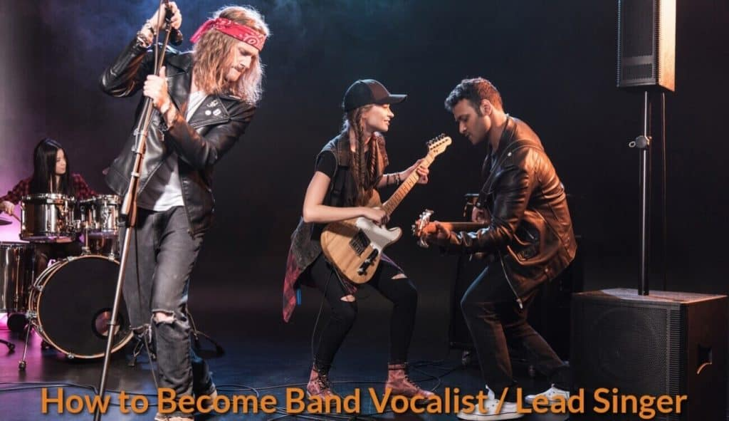 Rock band performing live onstage.