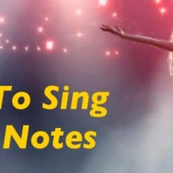 Singer is singing in high notes.