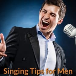 Man learn singing.