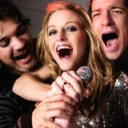 Friends learn singing.