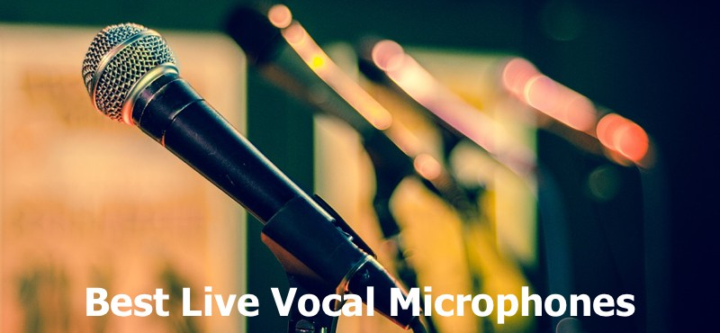 A panel of mic for live band singing.