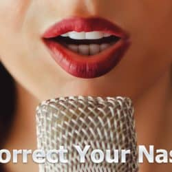 singing with nasal voice.