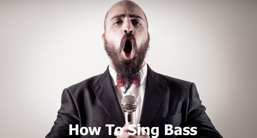 Man singing bass voice.
