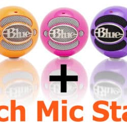 Different colors and designs of Blue Snowball mics.