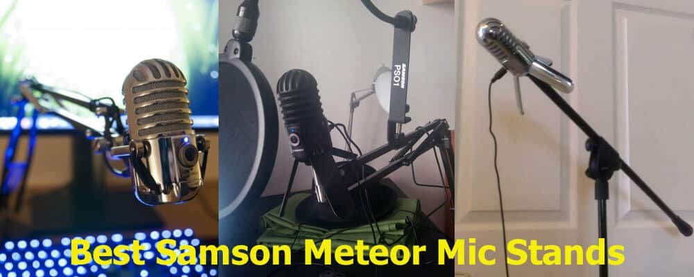 Ways of setting up the Samson Meteor mic stands.