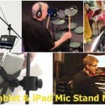 Types of mic stand tablet mounts for singers and musicians use.