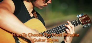 Playing guitar with the most comfortable styles.
