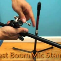 How to set up and install the boom arm mic.