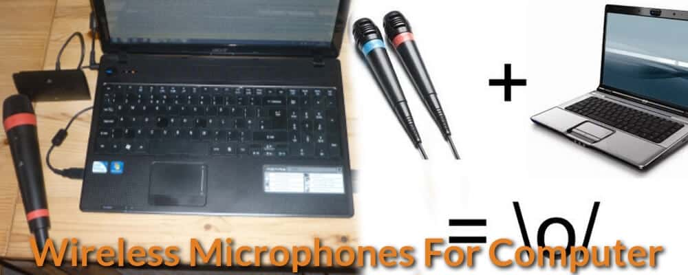 How to connect wireless mic to laptop.