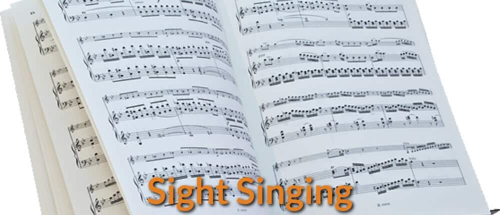 Music sheets for sight singing.