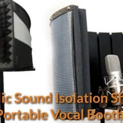 Singers recorded their song in the small vocal shields.