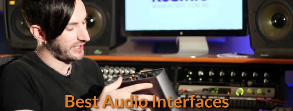 Music producer explains how the audio interface works.
