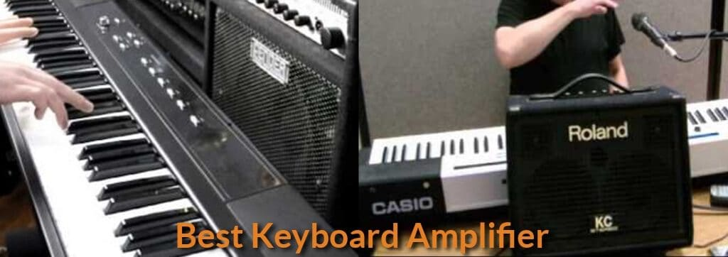 Amplifier combo for keyboard piano.