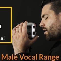 Male singer is vocalizing his voice.