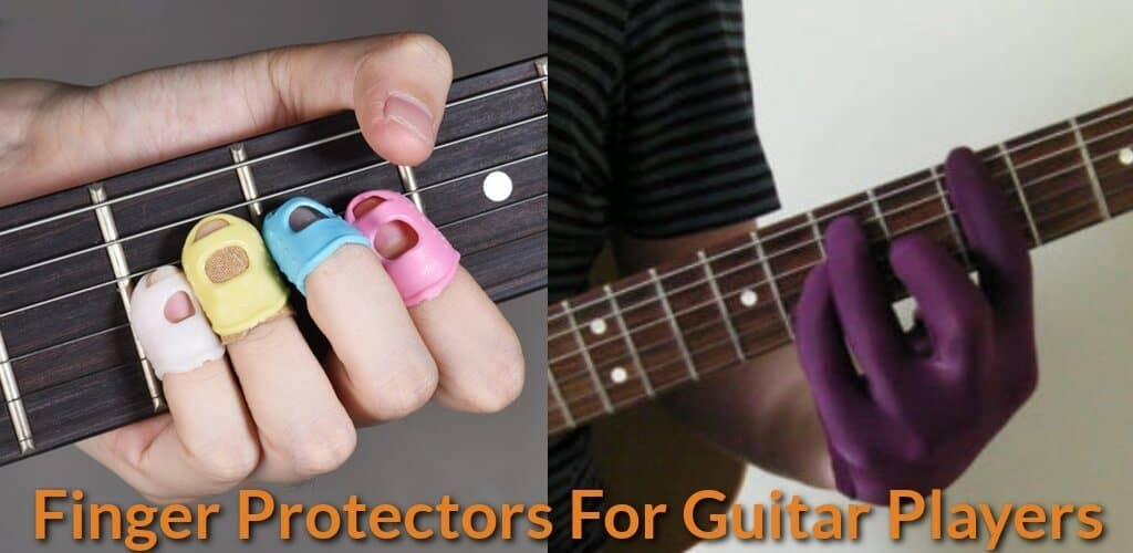 2 types of gloves you can use when playing guitar.