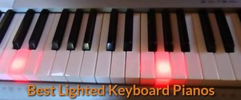 A photo showing how the lighted piano keyboard works.