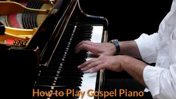Pianist is playing gospel song.