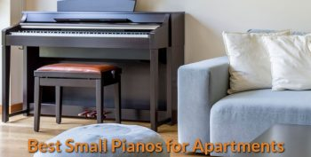 Apartment with a small piano in a corner.