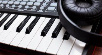 studio keyboard piano for making music.
