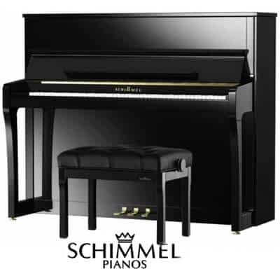 Schimmel upright piano model.