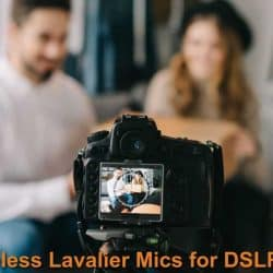 Recording video with a camera that connected with the Lav mics.