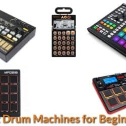 Drum machines for making drum beats.