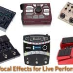 Different types of vocal effects that are suitable for singers and live bands.