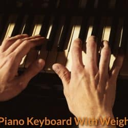 Playing the classical piano.