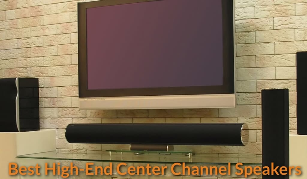 Center channel speaker set in the living room.