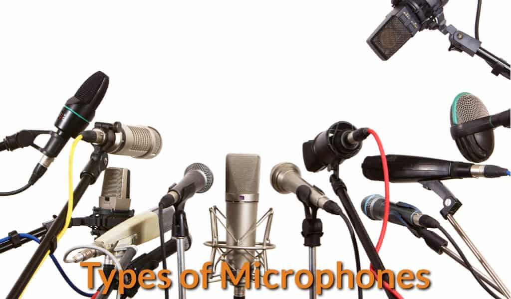Different types of microphones that are suitable for singer and musician.