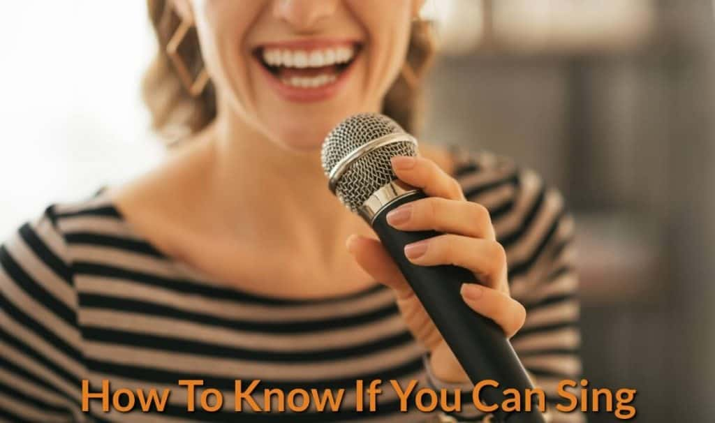 A female singer is testing her voice with mic.