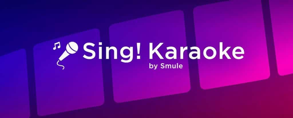 Smule karaoke banner.