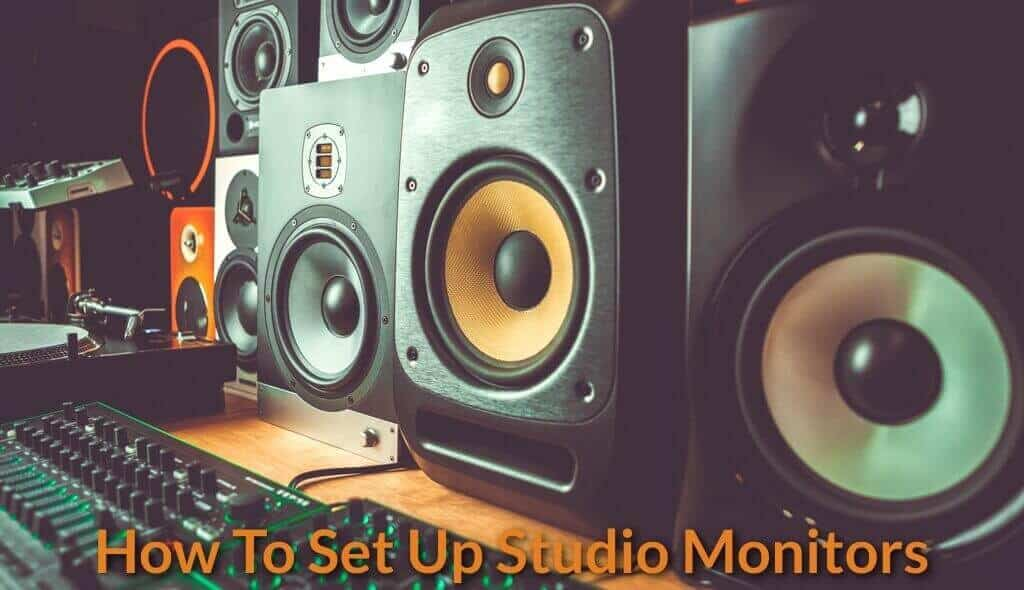 Image showing a more comprehensive and complex studio monitors setup.
