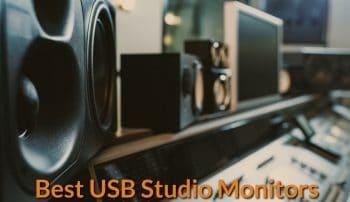 Display of usb compatible studio monitors.
