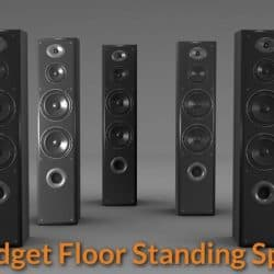 Different types of tower speakers.