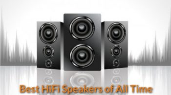 Hi-Fi speakers set display.