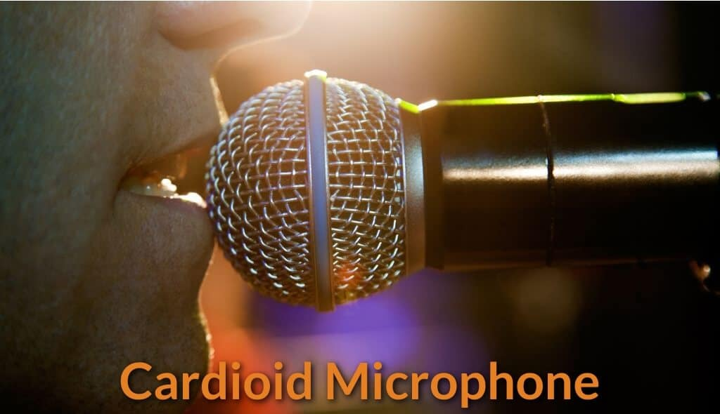 Singer singing close to the cardioid mic.