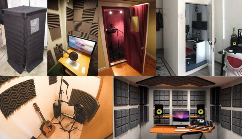 Different types of vocal booth plans and ideas.