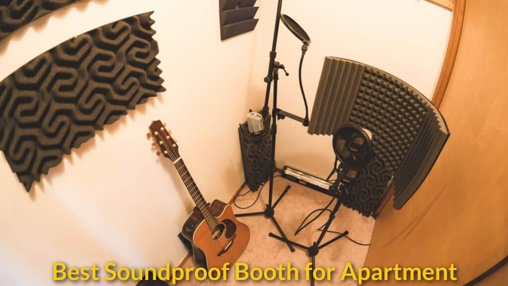 Home studio soundproof setup in apartment and small room.