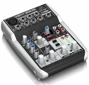 Home recording studio mixer.