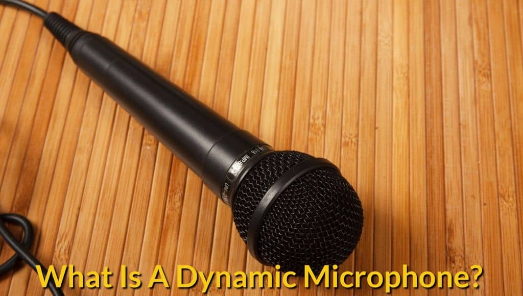Dynamic mic on the table.